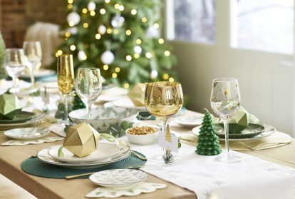 Christmas Table Decoration Glassware